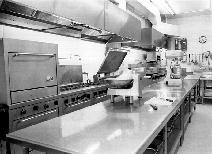 The kitchen at The Mixing Bowl