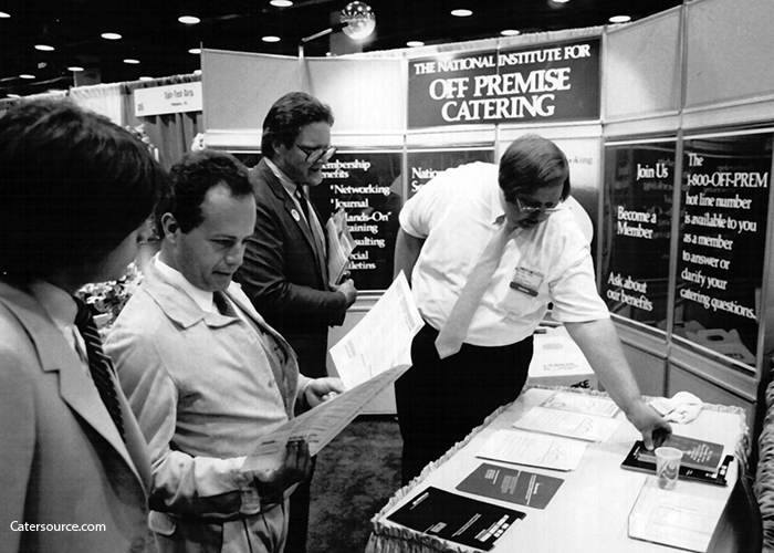 A tradeshow booth for the National Institute for Off-Premise Catering